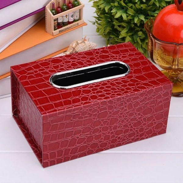Fashion New Leather Tissue Box Rectangle Square Pen Remote Storage desk organizer Paper Napkin Towel holder dispenser cover cases