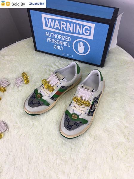 AA2U 270211206 yeşil tek küçük kirli ayakkabı SNEAKERS Elbise Ayakkabı Skate Dans Balerin Flats Loafers Espadrilles takozları
