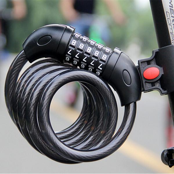 Mot de passe numérique serrure de vélo de montagne en acier câble de sécurité câble antivol antivol avec montures de tige de selle