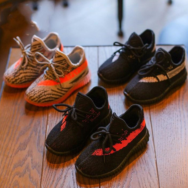 hococal Kanye Kids Shoes Sneakers Baby Toddler Trainers Run Shoes Infant Children Boys Girls Chaussures Pour Enfants