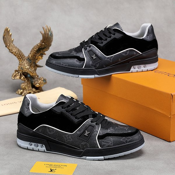 2019 Trainer Sneaker Men'S Shoes Drop Ship Fashion Design Low Top Type Shoes Vintage Herren Luxus Marken Schuhe Comfortable Lace Up Men Shoes From