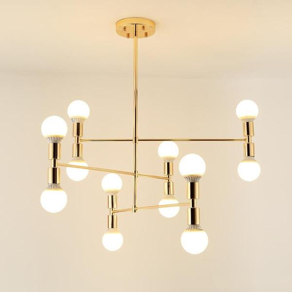 12 Глава Современная люстра творческий апарт-отель Nordic минималистской гостиной подвесной светильник E27 AC 85-265