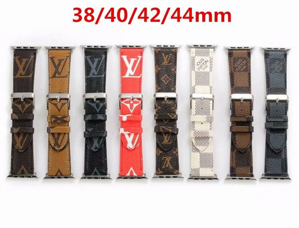 Top Fashion Strap 42MM 44MM cinturini in pelle di lusso per Apple Watch Band 42mm 38mm iwatch 2 3 4 bande cinturino in pelle Sport Bracelet