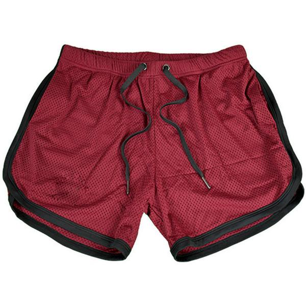Men Bodybuilding Gym Running Jogging Clothing Athletics Net Solid Outdoor Shorts