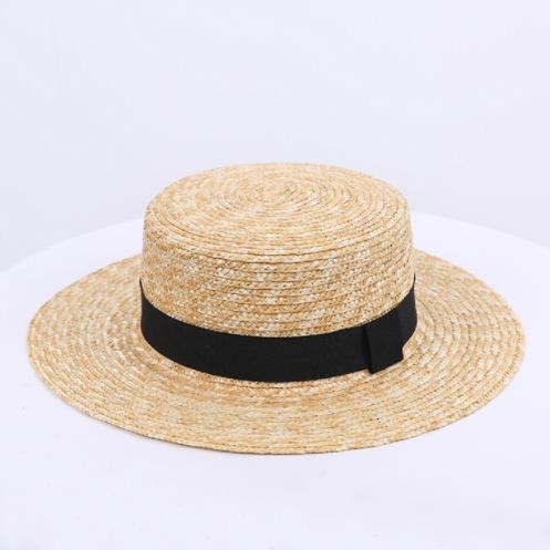 2019 new hot sale comfort wild straw straw hat female spring and summer bow small hat British retro shade beach tide