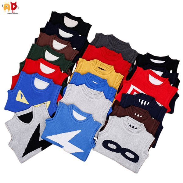 good quality Boys Winter Sweaters Vest Girls Spring Autumn Tops Kids Outwear Children's Clothing Clothes