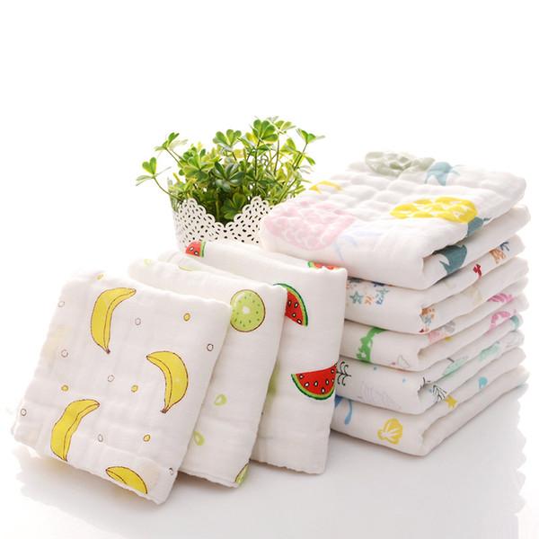 Cotton Baby Towel 20*40cm 6 Layers Gauze Muslin Newborns Saliva Feeding Slobber Towels Boy Girl Kids Handkerchiefs Good quality F07 20pcs