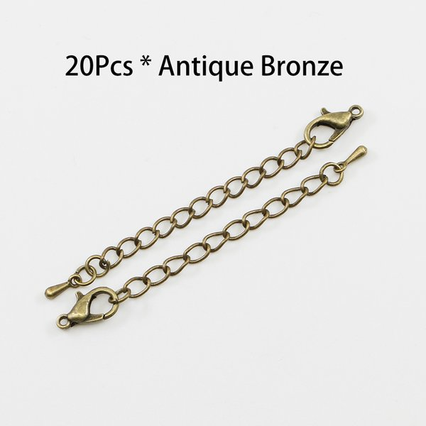 20pcs Extension Tail Chain Lobster Clasps Connector For For DIY Jewelry Findings