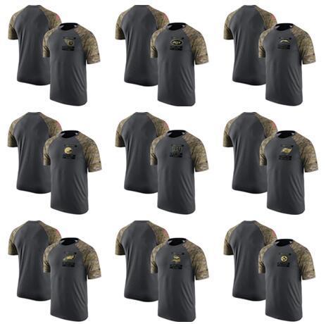 Tennessee York Angeles Cleveland Orleans Erkekler Aziz Browns Şarj Jets Titans Pro Hattı Heathered Gri Gerçek Renk T-Shirt