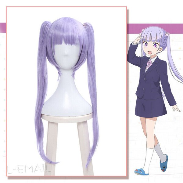 Anime NEW GAME! Aoba Suzukaze Cosplay Wigs Lolita Double Tail Hairpiece Wigs