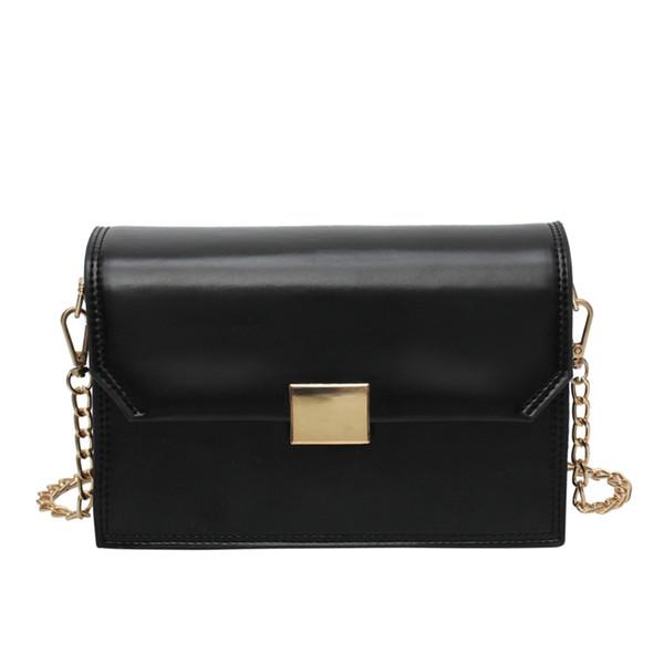 NEU-Foreign Air Small Bag Damen Schultertasche Fashion Chain Wild Diagonal Small Square Black
