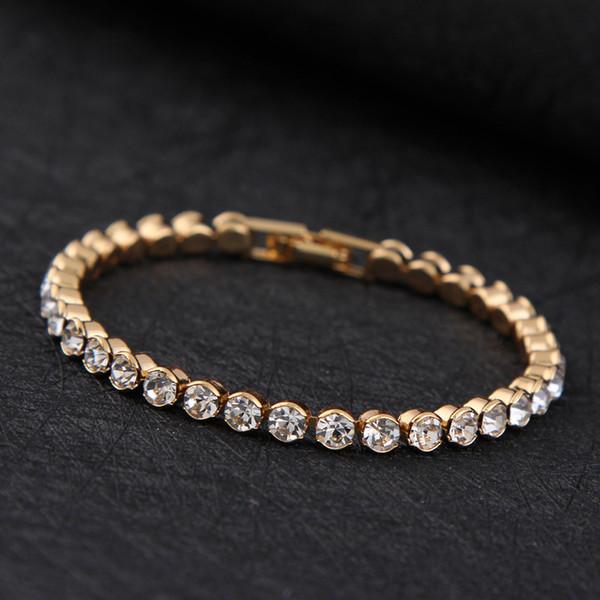 Simples Pulseira Mulheres Doce Zircão Cristal Japonês Coreano Namorada Banhado A Prata Enfeites de Mão Diamantes Pulseira Atacado