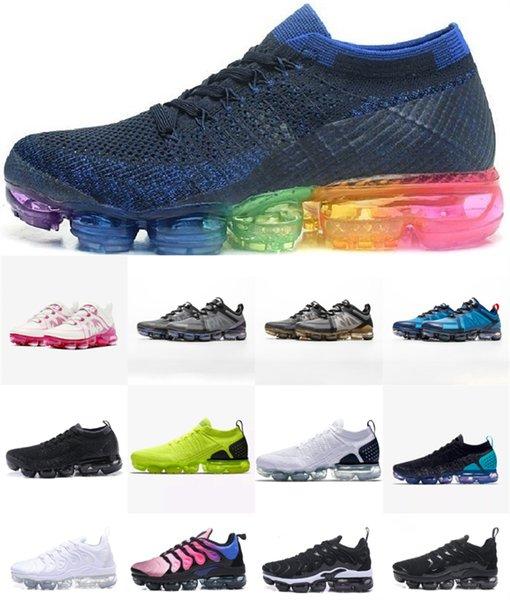 best selling 2019 Knit 2.0 3.0 FK Men Women Running Shoes Sport Sneakers Be True Rainbow Black Punch TN Outdoor PLUS Athletic Trainers