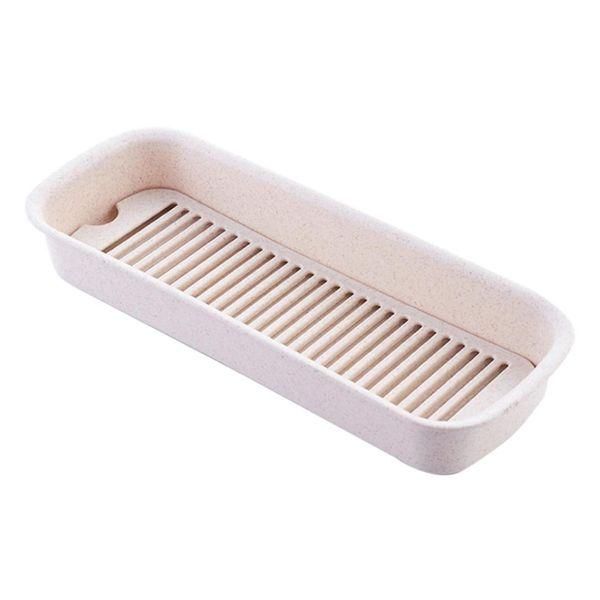 New Tableware Drying Rack Draining Box Cutlery Organizer Holder Storage Box Case Storage Boxes Bins - Nordic Beige/Green/Blue