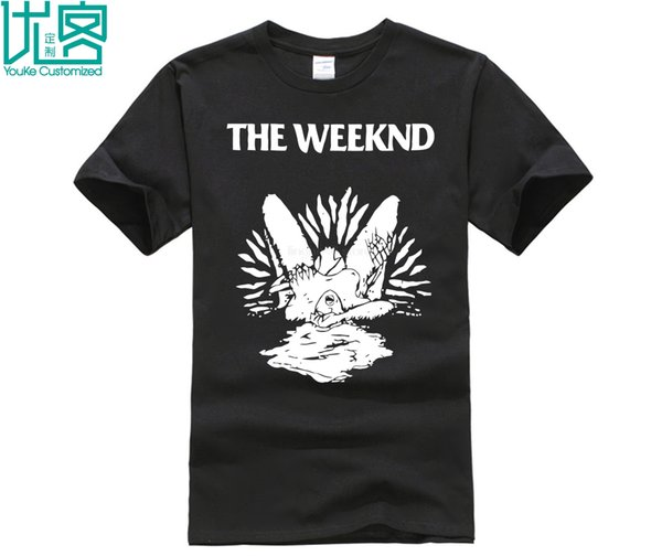 A camisa T-shirt gola de manga curta T-shirt moda casual de algodão 2019 T-shirt tendência Impresso Weeknd Dead Head homens de T