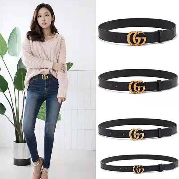 2018 Hot selling new Mens womens black belt Genuine leather Business belts Pure color belt snake pattern buckle belts