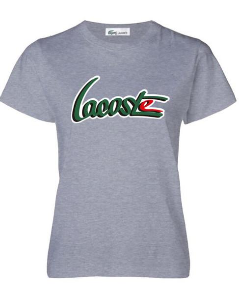 er maglietta lettera stampata manica corta tee per l'estate nero bianco traspirante magliette di marca formato asiatico N33333