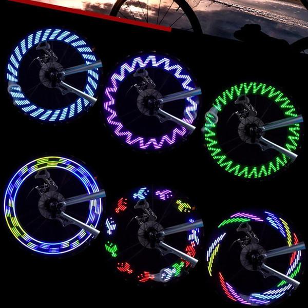 بالجملة، 7 قطع LED للدراجات النارية في الهواء الطلق ركوب الدراجات دراجة دراجة الاطارات عجلة للماء وميض تكلم ضوء فلاش 8 ألوان بالجملة
