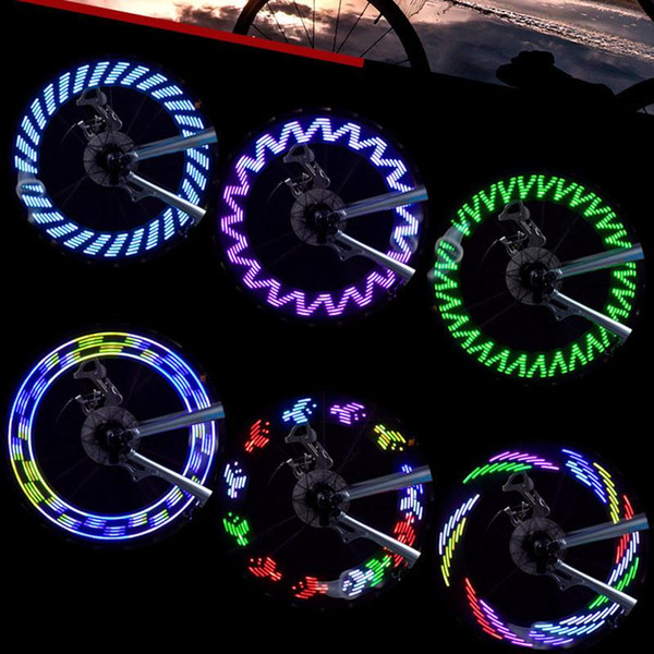 Atacado 7 Pcs LED Motocicleta Ciclismo da bicicleta da bicicleta do pneu da roda impermeável piscando Raio de luz Flash 8 cores Atacado