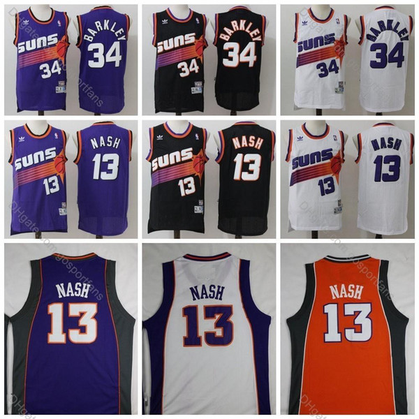 best cheap eb5a1 4ebac 2019 Vintage Suns Charles Barkley Jersey #34 Phoenix Steve Nash Jersey #13  Charles Barkley Basketball Jerseys Mens Black Stitched S XXXL From Mm_top,  ...