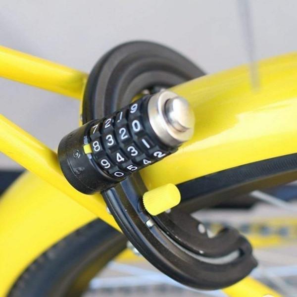 Nova Bicicleta Ciclismo Fechadura Em Ferradura Garras Anti-roubo Bloqueio 4 Palavras Senha Forte Segurança Bicicleta Fechaduras de Bicicleta # 342604