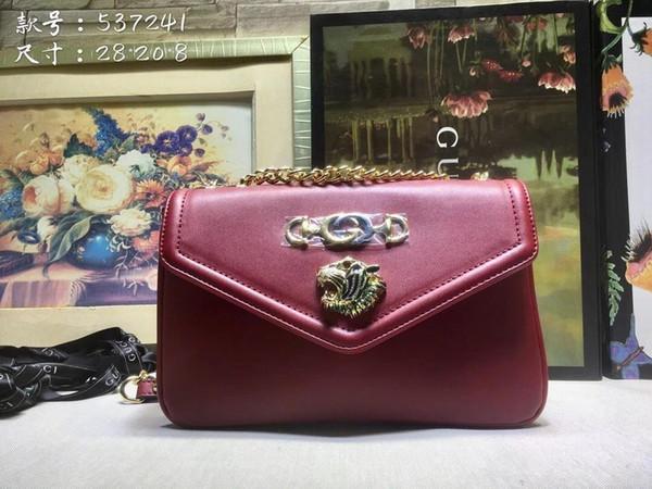 2019 New Handbags Purses Listing Women Shoulder Bags Charming Popular Classic Top Quality Tiger Head Embellished Interlocking Horsebit