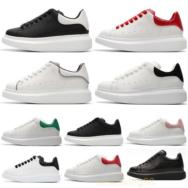 Siyah Rahat Ayakkabılar Mens Womens Chaussures Ayakkabı Güzel Platformu Rahat Sneakers Tasarımcılar Ayakkabı Deri Katı Renk Elbise Ayakkabı 35-44