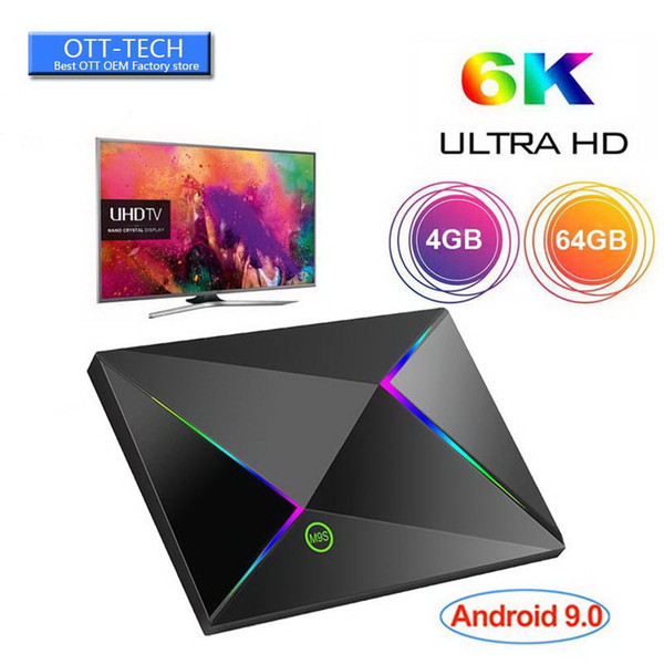 Best seller M9S Z8 Android tv Box Quad Core 4GB 64GB Quad Core Mini PC Android 9.0 H6 Chip 2.4G Wifi Smart Media Player PK RK3328 RK3318