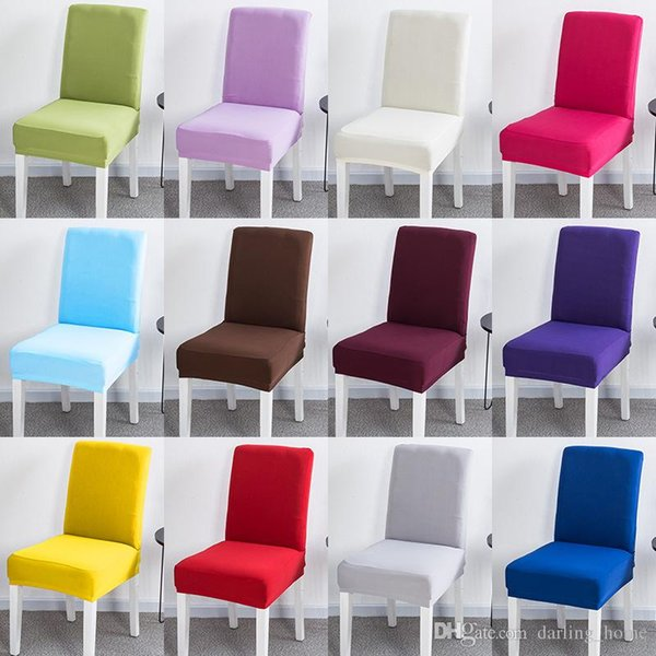 Bulk 20 Solid Colors Chair Cover Stretch Elastic Slipcovers Restaurant Weddings Decoration Banquet Hotel Kitchen Accessories Craft Supplies