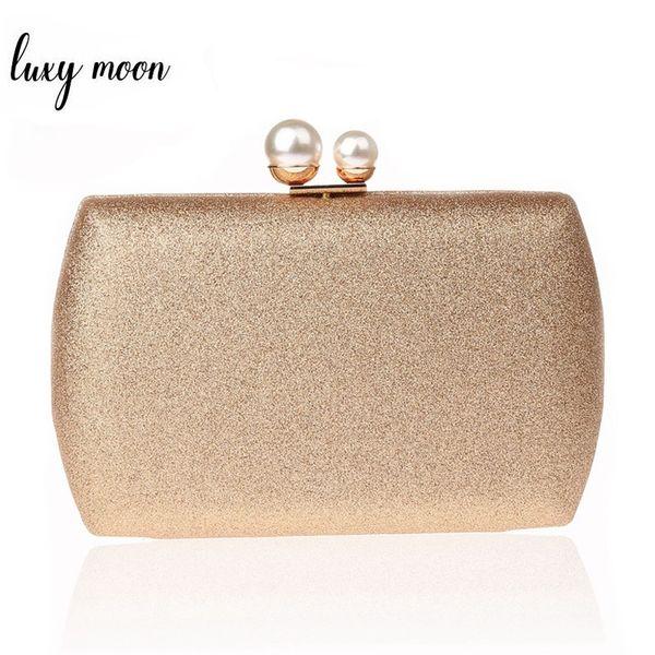 Luxy Moon Women Clutch Bags Simple Design Lady Pearl Evening Bag Day Clutches Banquet Wedding Party Purse Elegant Handbags #295025