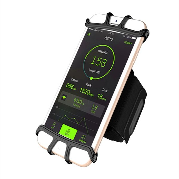 Adjustable 5.3-8.5in Cell Phone Case Holder Gym Sports Armband Running Bag Cycling Wrist Band for iPhone 8 for Samsung Galaxy S6 #171338