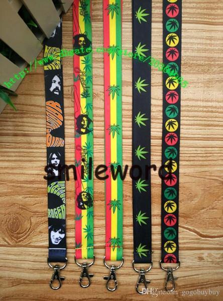 New Wholesale - 10pcs Cartoon Bob Marley Rasta Cell Phone Straps & Charms / neck Lanyard Key Chain