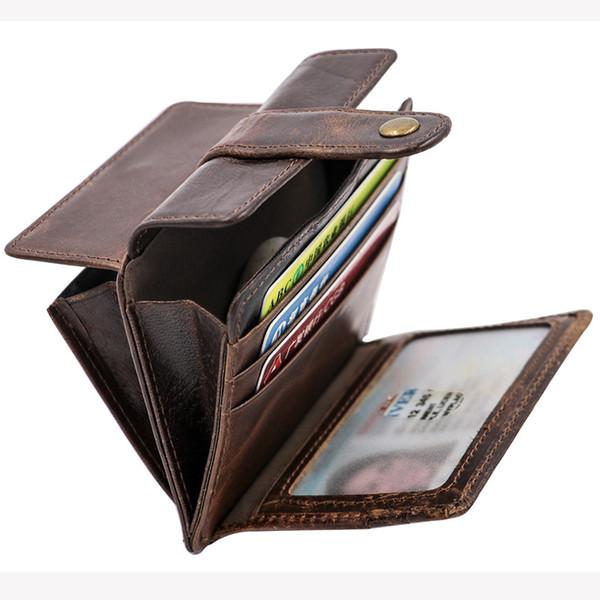 Vintage hombres de las mujeres billetera de cuero de Lujo billetera billetera diseñador titular de la tarjeta para mujer monederos monedero dinero clip de moda accesorios