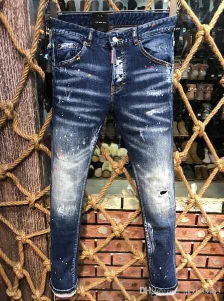 Лето 2019 оптовые мужские джинсы, европейская джинсовая одежда хорошего качества, мужская одежда добро пожаловать в # 7770