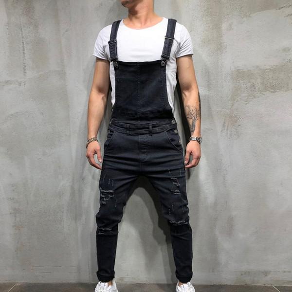 7e81b7a66af7 MoneRffi New Men s Denim Carpenter Overalls 2019 Spring Autumn Casual Loose Pants  Bib Pant Men s Fashion Hip Hop Jumpsuit Jean