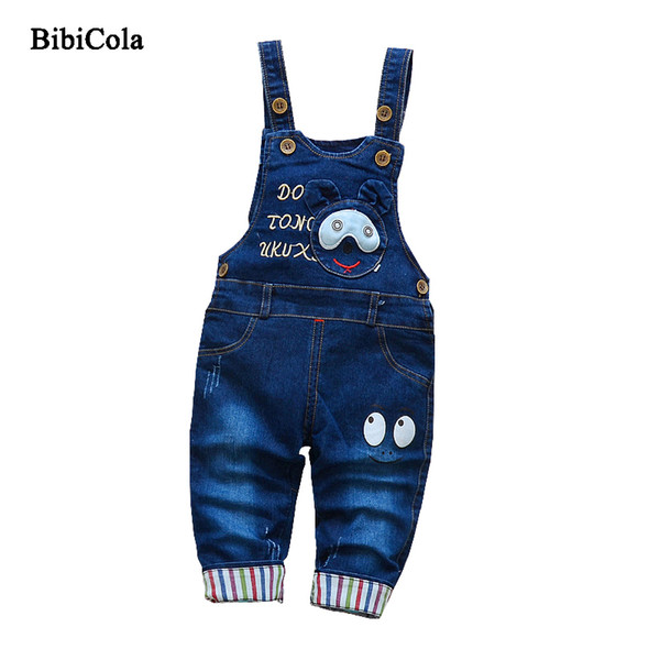 good quality Cartoon Children Boys Jeans Pants Bib Straps Cowboy Trousers High Qulity 2019 Spring Autumn Baby Boys Kids Clothing