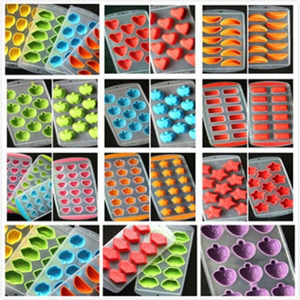 Commercio all'ingrosso di gomma vassoio del cubo di ghiaccio creatore di frutta creatore congelare stampo vassoio del cubo di ghiaccio ice-making box stampo per utensili da cucina partito DBC DH0632