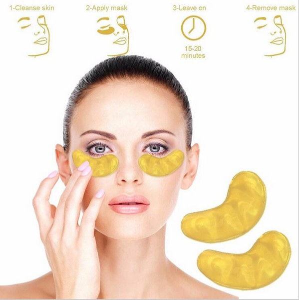 best selling Free DHL New Collagen Crystal Eye Masks Anti-puffiness moisturizing Eye masks Anti-aging masks collagen gold powder eye mask