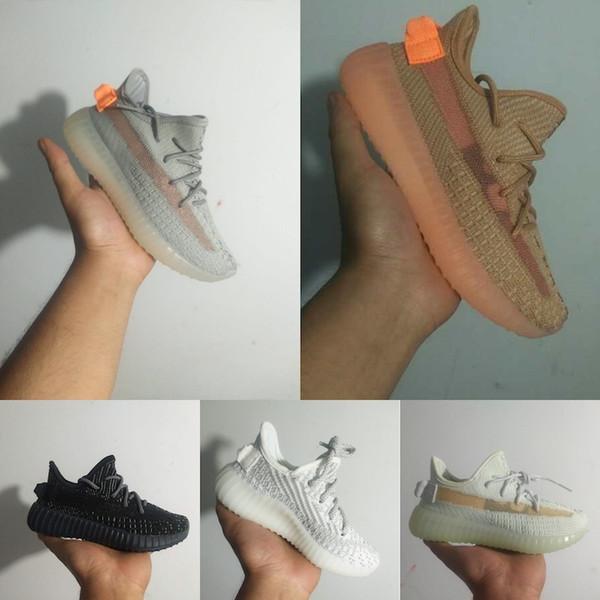 Adidas Yeezy 350 V2 Hiperespaço Crianças Meninos Meninas criança Sapatos de Corrida de Estática de Argila Forma Verdadeira Juventude Crianças Infantil Sapatilhas menino menina Bebê