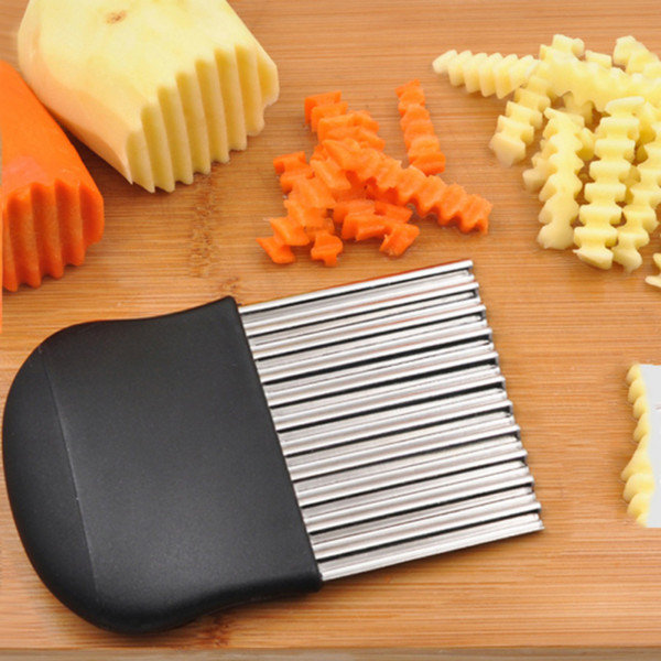 French Fries Cutter Stainless Steel Wave Potato Chips Making Peeler Cut Vegetable Knives Fruit Vegetable Slicer Potato Cutting