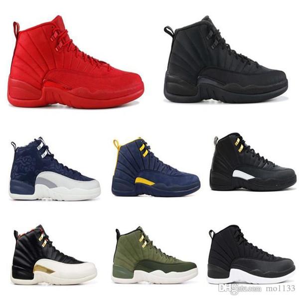 2019 new 12 Gym Red Basketball Shoes Vachetta Tan Wings International Flight Michigan Taxi Men Designer Sport Shoe The Master Sneaker