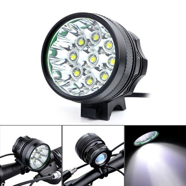 Super Bright 10000Lm 9 x XM-L T6 LED Camping Bicycle Light Bike Light Cycling Flashing Lamp with 8 x 18650 Battery Pack #632958