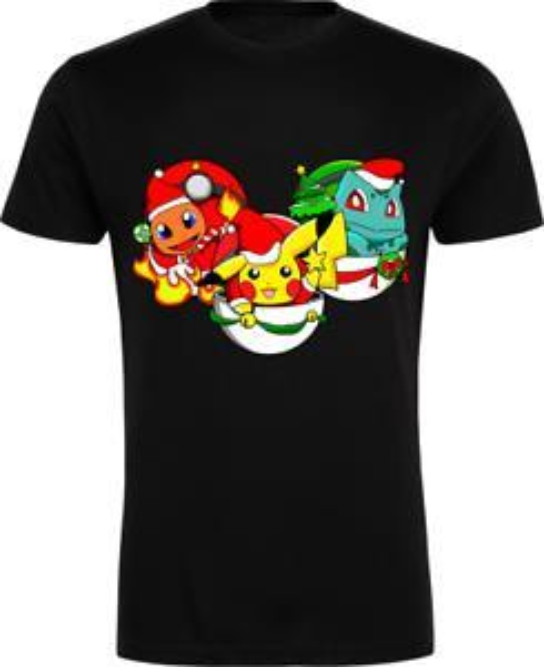 Yaz Noel Tişört - Pikachu, Bulbasaur, Charmander, Çocuklar, Yaz, Love