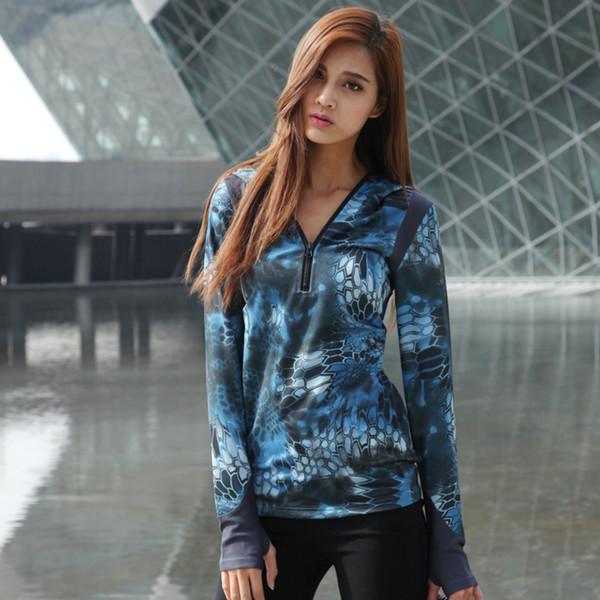2017 camouflage woman hoody quickdry shirt sea snake rock kryptek camo ladies shirts tactical breathable shirt hunting thumbnail