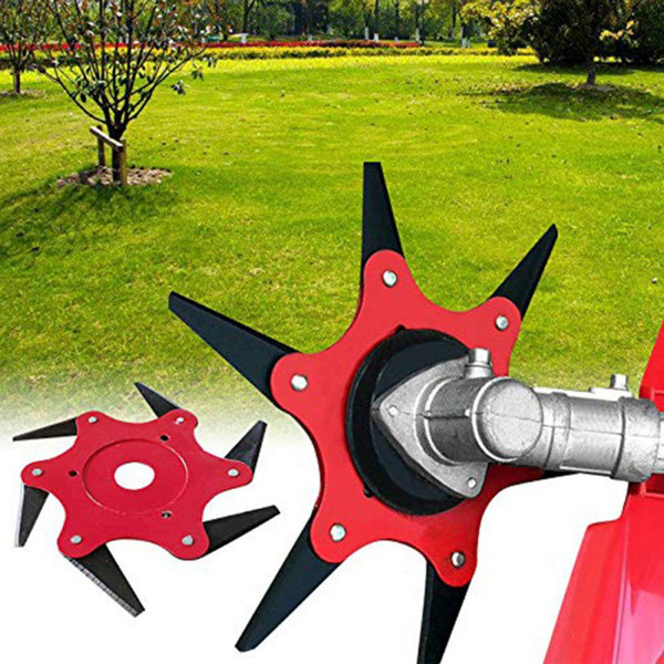 top popular 6 Teeth Trimmer Metal Blades Brush Cutter Blade Trimmer Head For Lawn Mower Garden Grass Head Garden Power Tools 2021