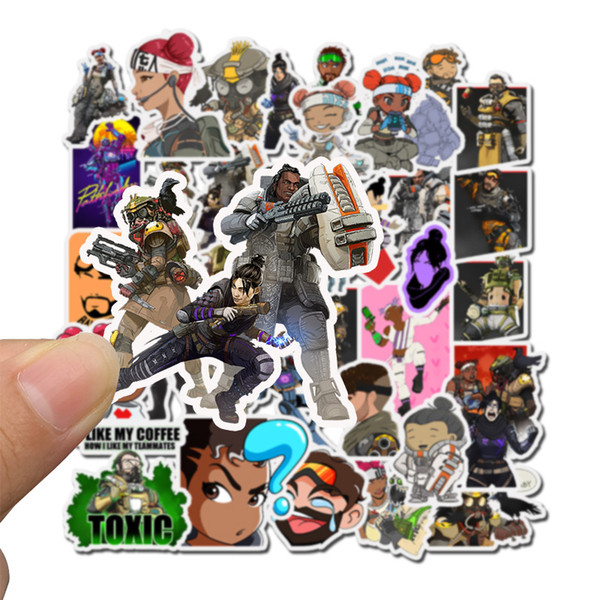 50 pcs/bag Car Stickers Game Apex Hero Legends For Laptop Skateboard Pad Bicycle Motorcycle PS4 Phone Luggage Decal Pvc guitar Stickers