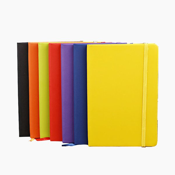 best selling Office School Hardcover Notebook A5 College Ruled Thick Classic Writing Notebook PU Leather with Pocket Elastic Closure Banded 13.8*20.7