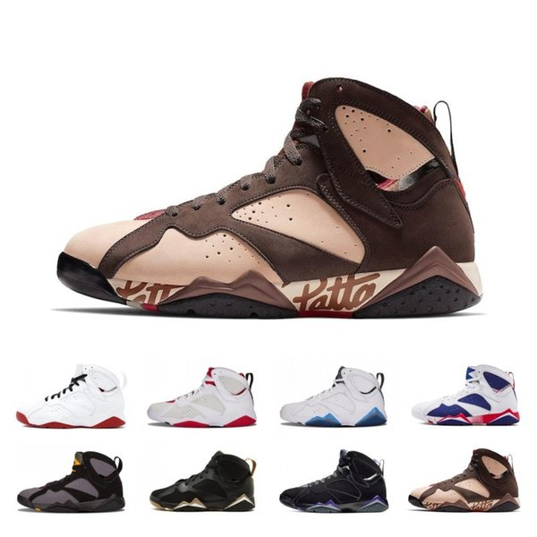 2019 High Quality Patta X 7 Ray Allen Olympic 7s Men Breathable Basketball Shoes History of Flight Hare mens Raptor sports Sneakers 8-13