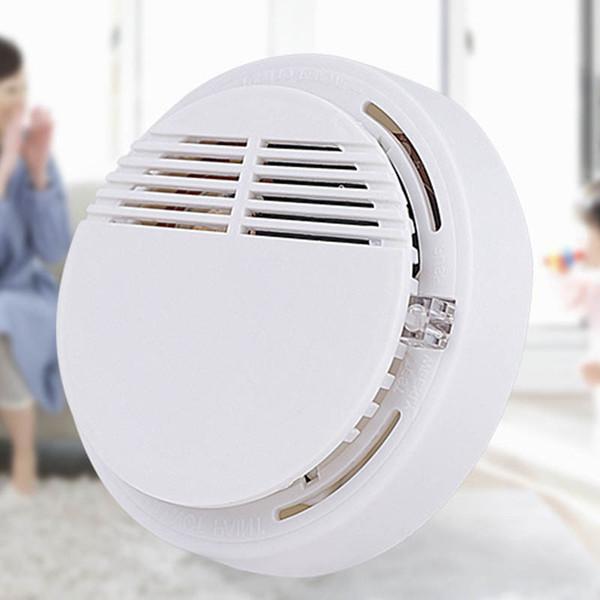 2019 Detector de humo Sistema de alarmas Detector de incendios Detector inalámbrico Detectores de seguridad para el hogar Alta sensibilidad Estable LED 85DB 9V guangzhou1