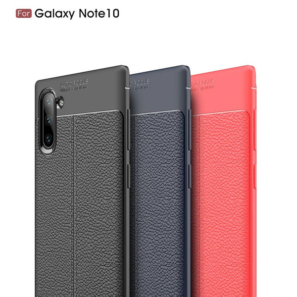 Custodia in pelle di lusso modello Lichee per Samsung Galaxy Note 10 10Pro S10 5G Plus S10E Custodia TPU Iphone XS MAX XS XR ShockProof